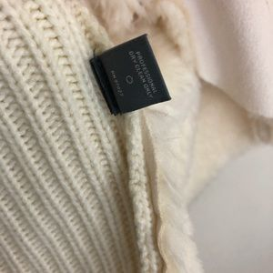 Neiman Marcus Sweaters - Neiman Marcus Knit, Faux Fur and Leather Cardigan